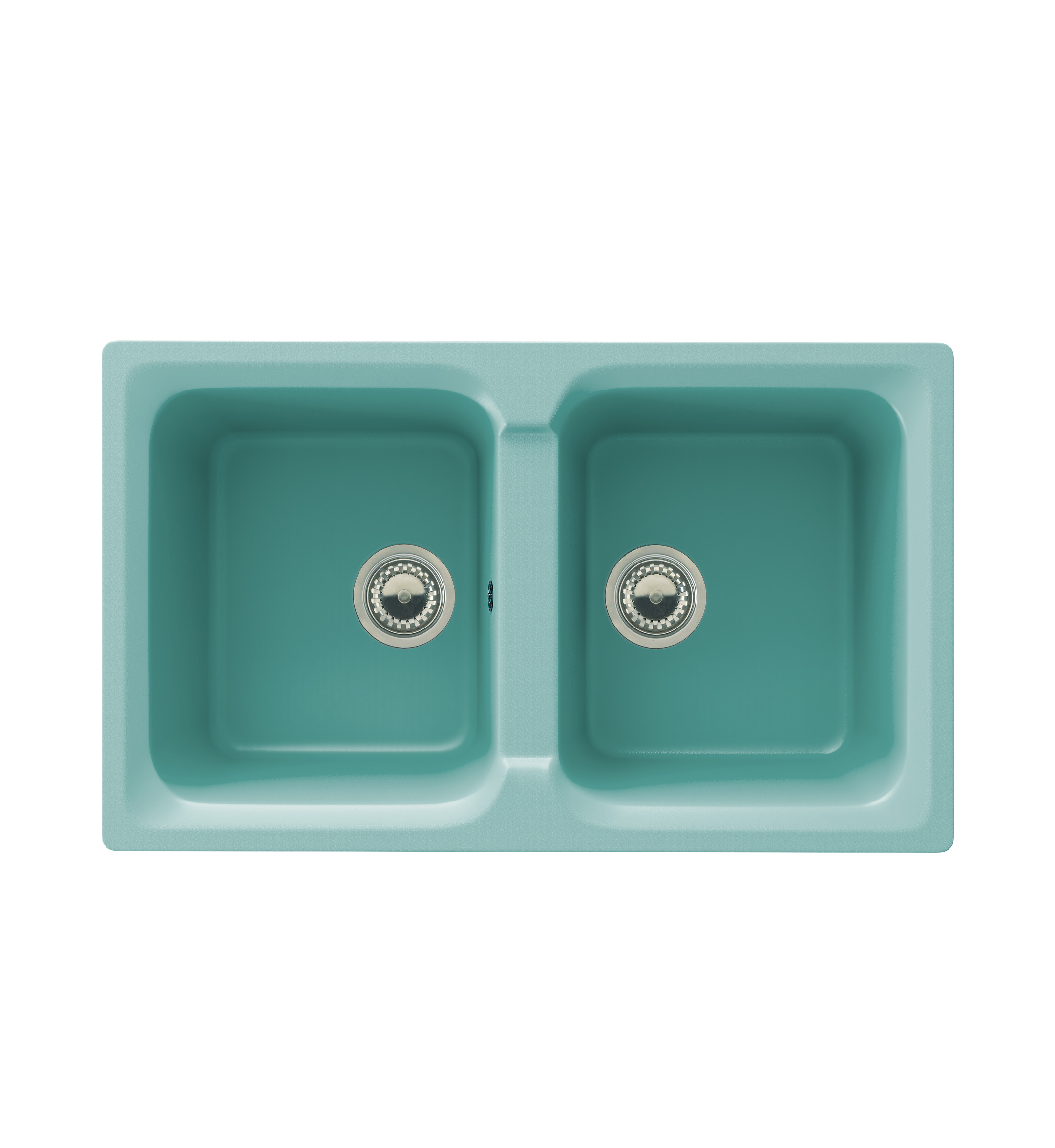 Synthetic sink, for a topmount installation. Two bowl. Minimum ...